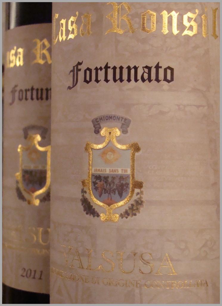 vino valsusa doc rosso fortunato casa ronsil chiomonte piemonte italia