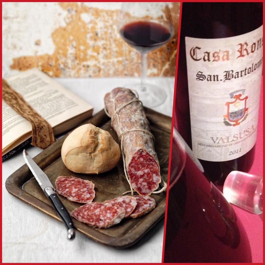 Programma per questa sera? aperitivo pane salame e vino rosso Valsusa DOC CASA RONSIL ! cosa volete di più dalla vita ?
