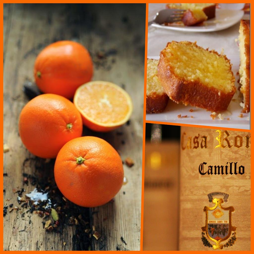 Morbidissima torta alle arance e vini VALSUSA D.O.C CASA RONSIL